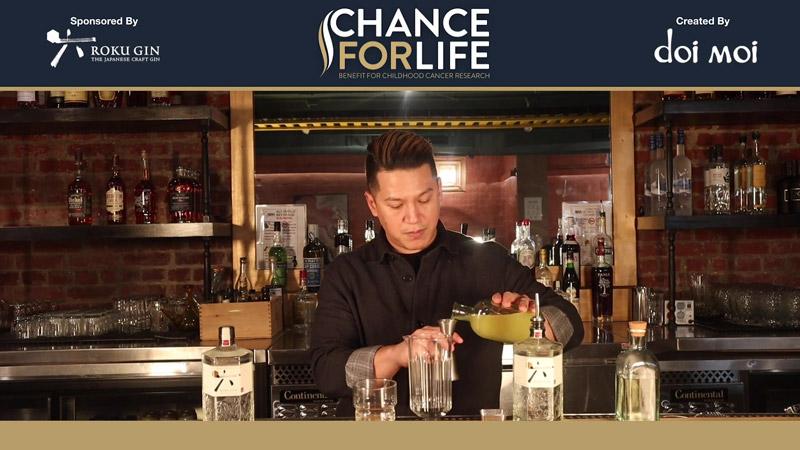 "doi moi's, Paul Martinez creates the ""Booze-shi"" cocktail with Roku Gin"